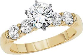 Gold and Silver Engagement Rings and Wedding Bands
